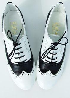 Black&White Mafia Oxford Shoes van KUKLAfashiondesign op Etsy, $125.00