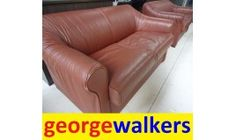 Corporate leather Couch ex Boardroom $529