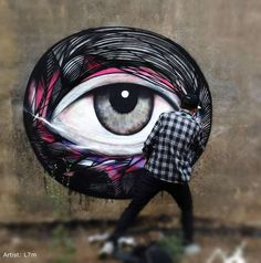 Ocular Street Art - The Newest 'L7m' Graffiti Shows Associates to the 'All Seeing Eye'