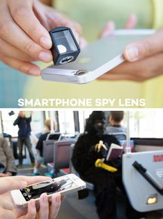 The Smartphone Spy Lens - See the world from new angles (and yeah you can be sneaky too it thats what youre into). Photography Tutorials, Photography Tips, Online Photo Printing Services, Engineer Prints, Infused Water Bottle, Palm Of Your Hand, Camera Hacks, Fitness Gifts, Android Smartphone