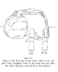 Women at the Tomb // UMHB Easter Pageant Coloring Book