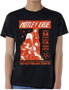 192ec78ce2 Motley Crue Concert T-shirt - Too Fast for Love Tour Feb 1982 Whiskey A  Go-Go