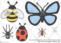 Teacher's Pet Activities & Games » Minibeast Size Ordering Activity Games, Math Games, Learning Activities, Activities For Kids, Maths, Teacher's Pet, Primary Classroom, Bugs And Insects, Home Learning