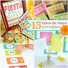 Today I'm sharing 15 Cinco De Mayo Printables with you. I love all the bright colors! Cinco De Mayo is such a fun day to just sit back and enjoy the fun colors, great food, and good company. I hope you guys have a great Cinco De Mayo. DIY Fiesta Bags Party Kit Cinco De …
