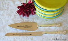 Wedding Cake Serving Set Personalized by LightKnife on Etsy, $52.00