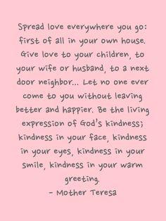 et voila...: SPREAD LOVE EVERYWHERE YOU GO...