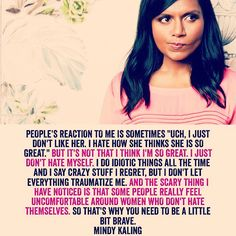 "LOVE THIS! Mindy Kaling talks about confidence in her new book, ""Why Not Me?"" that comes out in September. #MindyKaling #WhyNotMe"