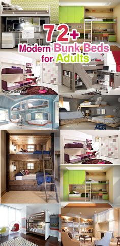 72+ Beautiful & Modern Bunk Beds for Adults