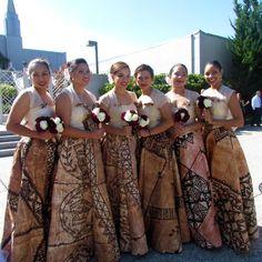 Tapa inspired bridesmaid dresses. Love love love!
