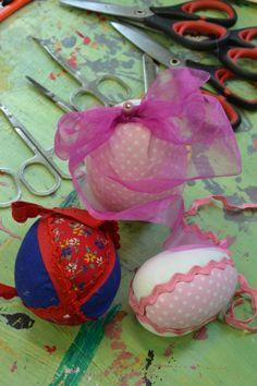 Patchworková vajíčka na velikonoční dílně v DDM Libertin
