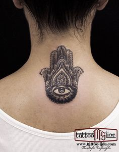 hand of fatima hamsa tattoo