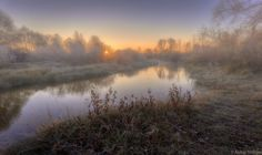 Autumn sketches - frosty sunrise on a small river by Aleksei Malygin on 500px