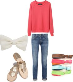 """OOTD: SCHOOL"" by bootsbowandbooze ❤ liked on Polyvore"