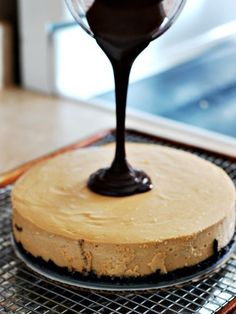 Peanut Butter Cheesecake with Nutella Ganache