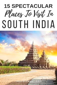 15 spectacular places to visit in South India. Shore Temple in Mahabalipuram is one of the intriguing tourist places in South India. India Travel Guide, Asia Travel, Travel Tips, Travel Ideas, Travel Chic, Travel Articles, Travel Goals, Tourist Places, Tourist Spots