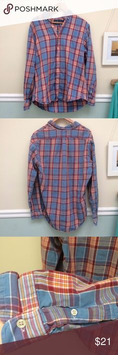 Men's Polo Ralph Lauren plaid button down shirt L Men's Polo Ralph Lauren plaid button down shirt L, no flaws, non smoking home. Offers welcome. Polo by Ralph Lauren Shirts Casual Button Down Shirts