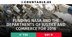 $51.4 Billion — Is it Enough to Fund NASA, the Dept. of Justice, the Dept. of Commerce, and Related Agencies? Vote! #NASA #Funding #Budgets #Justice #Science #Commerce #Economy #Politics #Countable