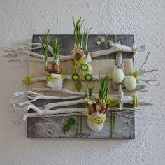 diy f r den fr hling und f r ostern tisch dekoration aus der natur basteln mit moos holz. Black Bedroom Furniture Sets. Home Design Ideas