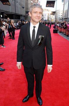 via Cumberbatchweb - Martin Freeman on the red carpet.
