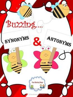 Synonyms and Antonyms This set will make it easier for your student to understand synonym and antonyms. This include poster, worksheets and game I. Literacy Activities, Literacy Centers, Reading Activities, Teaching Language Arts, English Language Arts, Word Study, Word Work, Creative Teaching, Teaching Ideas