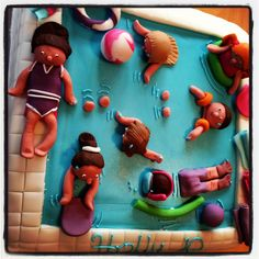 Another pool party cake. They were a bit popular.