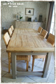 New ambiance in the lounge furnishings makeover 3 decorations - Repurposed Furniture Dining Table Redo, Modern Dining Table, Rustic Table, Rustic Decor, Kitchen Furniture, Living Room Furniture, Kitchen Decor, Repurposed Furniture, Rustic Furniture