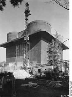 As part of its revitalised defences against bombers Germany was now building 'Flak towers' – massive concrete structures upon which anti aircraft guns were placed.