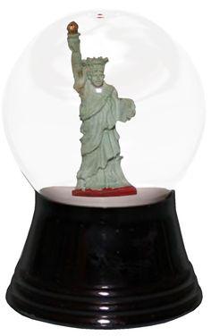 Perzy Small Statue of Liberty Snow Globe
