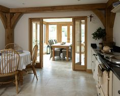 Pearmain - Border Oak - oak framed houses, oak framed garages and structures. Oak Framed Extensions, Kitchen Extensions, Border Oak, Oak Framed Buildings, Oak Frame House, House Extension Design, English Decor, Hygge Home, Cottage Kitchens