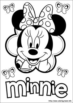 Minnie Mouse printable coloringcan make this using a 6 petal flower and Minnie cutter sheet