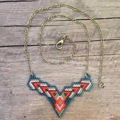 seed bead necklace, brick stitch,OOAK, beaded, tribal Source by nilferormanl Bead Jewellery, Seed Bead Jewelry, Seed Beads, Beaded Jewelry, Beaded Necklaces, Tribal Jewelry, Loom Beading, Beading Patterns, Native Beadwork