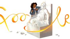 "Edmonia Lewis Google doodle honors 19th century artist behind ""The Death of Cleopatra"" sculpture"