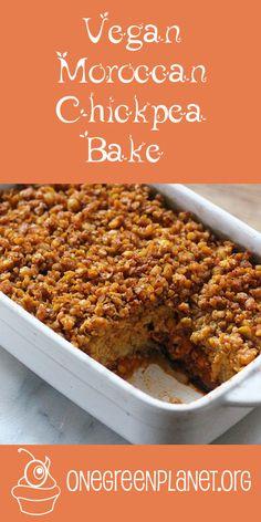 Moroccan Chickpea Bake [Vegan] @ylimeteirrah http://www.onegreenplanet.org/vegan-recipe/moroccan-chickpea-bake/ #eatfortheplanet
