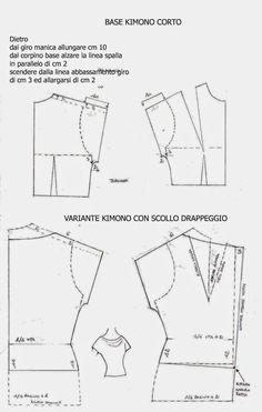 I Quaderni di Studio Manie: CARTAMODELLO KIMONO CORTO ESEMPIO