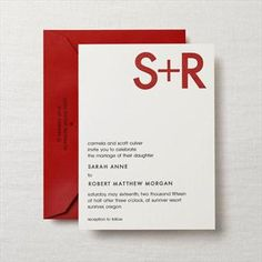 Crane & Co., modern, invitation, red, black, rooftops collection, stationery