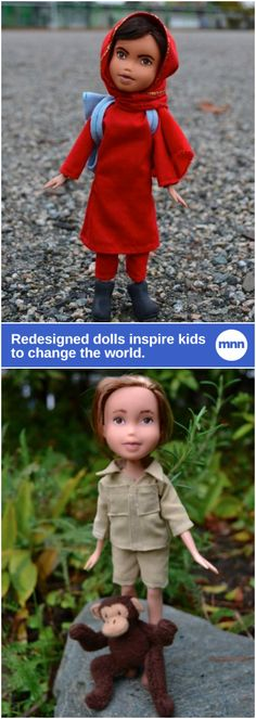 Artist creates dolls of Malala, Jane Goodall and other female role models.