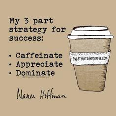 Caffeinate. Appreciate. Dominate. @nanea #coffee #coffeeaddict #coffeelove #deathbeforedecaf #coffeequotes #coffeememe #sweatpantsandcoffee