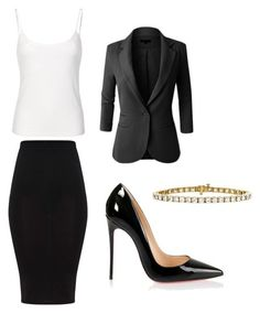 """""""Untitled #9"""" by cacker0214 ❤ liked on Polyvore featuring LE3NO and Christian Louboutin"""