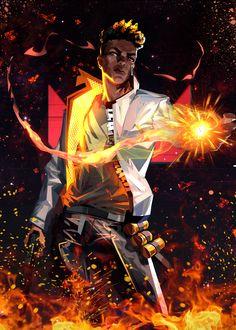 Black Anime Characters, Dnd Characters, Anime Fantasy, Fantasy Art, Phoenix Art, Black Art Pictures, Concept Art World, Samurai Art, Gaming Wallpapers