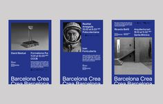 Barcelona wants to be considered one of the cities that hosts and exports more creative talent in the world. It has developed the branding of the proposal for the new communication of the city of Barcelona. Web Design, Book Design, Cover Design, Layout Design, Type Design, Typography Poster, Graphic Design Typography, Graphic Design Art, Editorial Layout