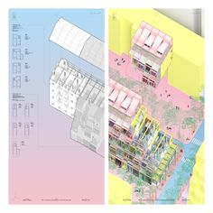 bui quy son's kim lien city investigates vernacularism and transformativity in hanoi Collage Architecture, Architecture Today, Architecture Visualization, Architecture Graphics, Architecture Drawings, Amazing Architecture, Architecture Details, Landscape Architecture, Architecture Diagrams