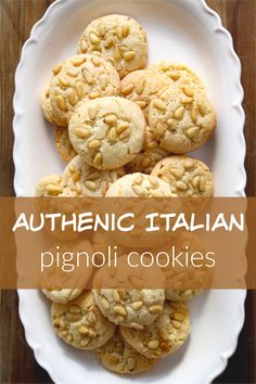 Easy and very authentic recipe for pignoli from my Italian born mom who has been making and perfecting this recipe for 40 years! Uses almond flour not paste! Italian Cookie Recipes, Sicilian Recipes, Italian Cookies, Sicilian Food, Authentic Italian Desserts, Italian Foods, Pignoli Cookies, Cake Recipes, Dessert Recipes