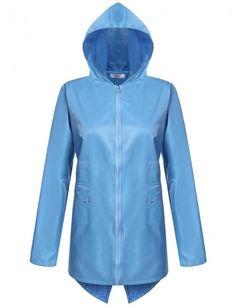 Rain Gear Generous Portable Eva Transparent Woman Fashion Womens Waterproof Outdoor Outerwear Hooded Cover Rain Coat Knee Length Raincoat Raincoats