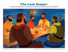 Matthew 26:17-30; Mark 14:12-26; Luke 22:7-23: Preparation for' Passover; Jigsaw Puzzle
