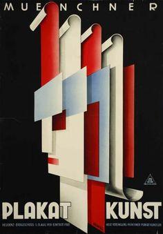 Munich Poster Art by Hermann Keimel. 1931.