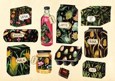 PACKAGING ILLUSTRATIONS - aitch