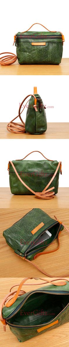 Genuine leather purse fashion vintage women handbag shoulder bag crossbody bag