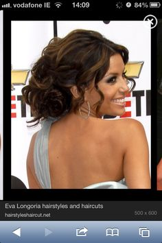 Eva longoria hair updo  Like this but higher and more pulled in