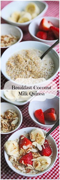 Breakfast Coconut Milk Quinoa with Fresh Fruit © Jeanette's Healthy Living
