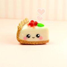 Tarta de queso Kawaii encanto collar miniatura por Sclaycreations